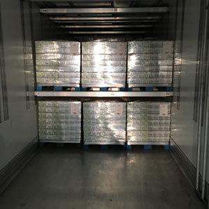 transport pharmaceutique vue intérieure